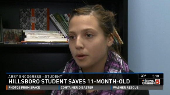 Teen does CPR to save baby at Missouri store