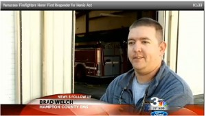 EMS provider credited with saving burning fire station