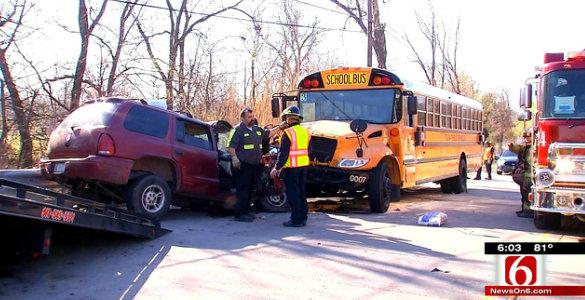 school bus cam captures  mph head  collision