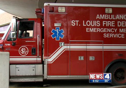 Ambulance shot at in St. Louis