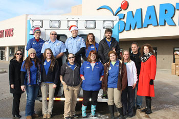 Ambulance delivers toys to Michigan hospital
